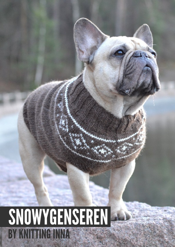 The Snowy sweater dog sweater