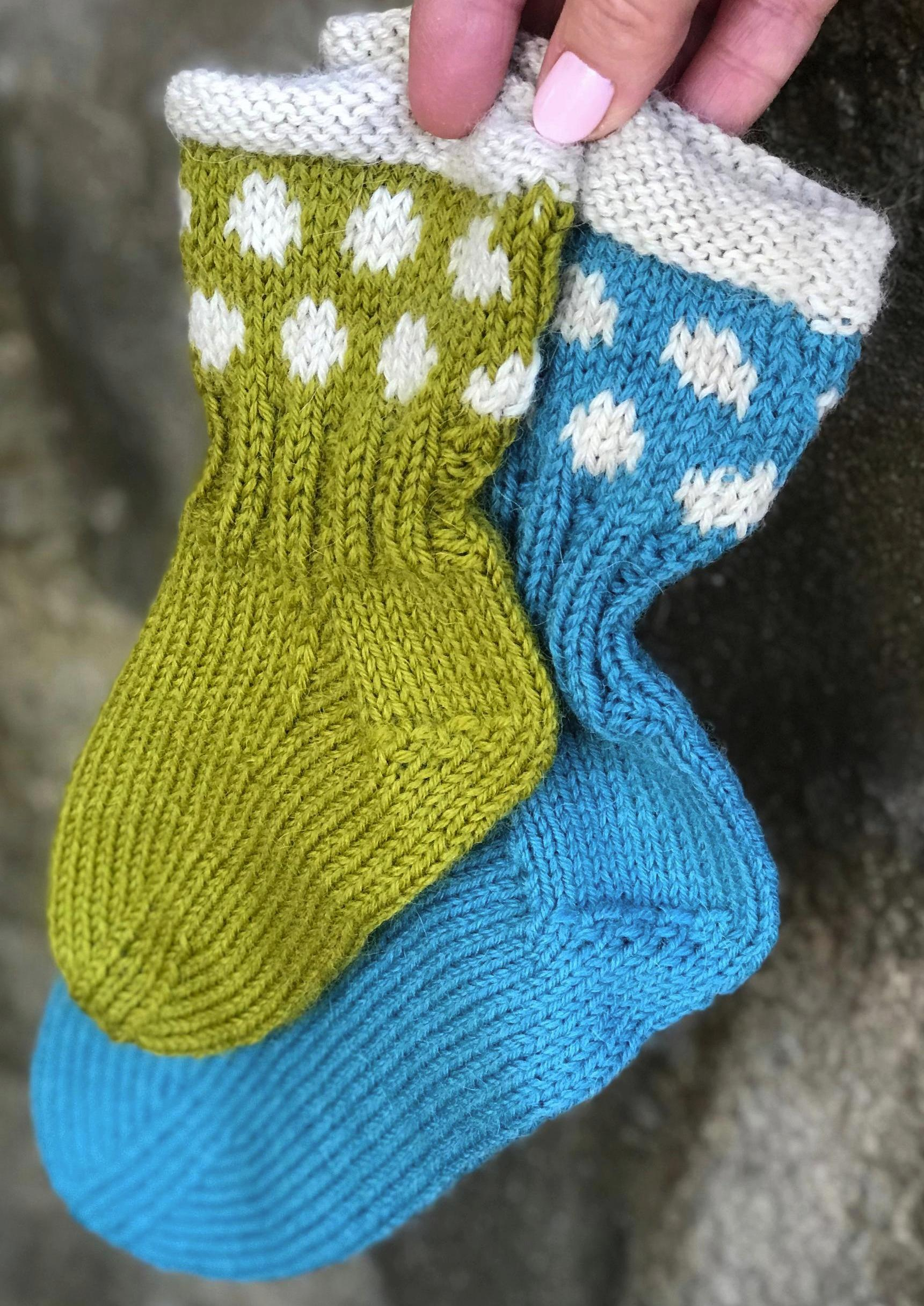 4114153b Garnpakke: Snøballsokker (2 par) - Knitting Inna