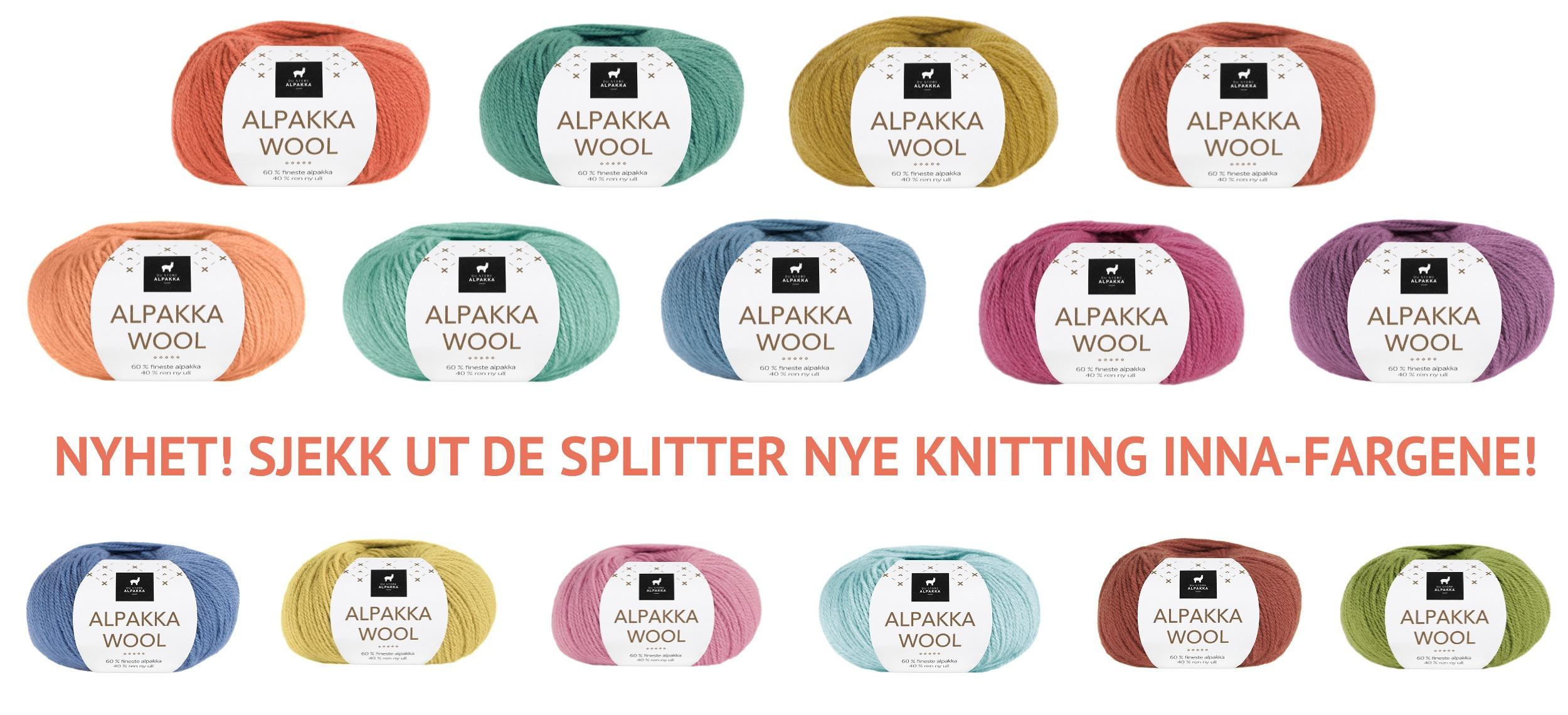 Knitting Inna-fargene